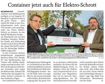 Holsteinischer Courier : Container jetzt auch für Elektroschrott